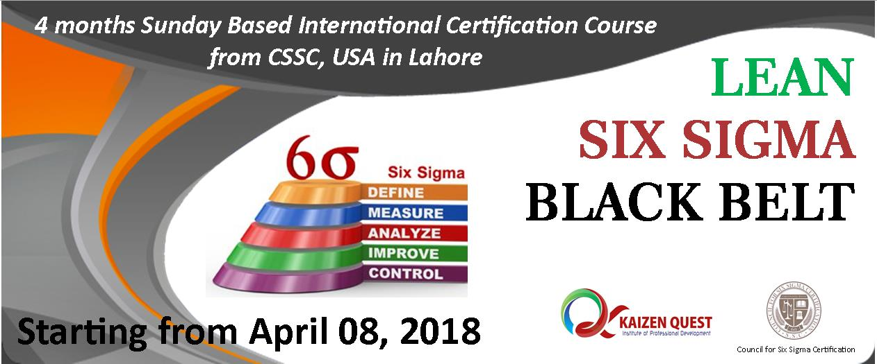 Certified Lean Six Sigma Black Belt Kaizen Quest